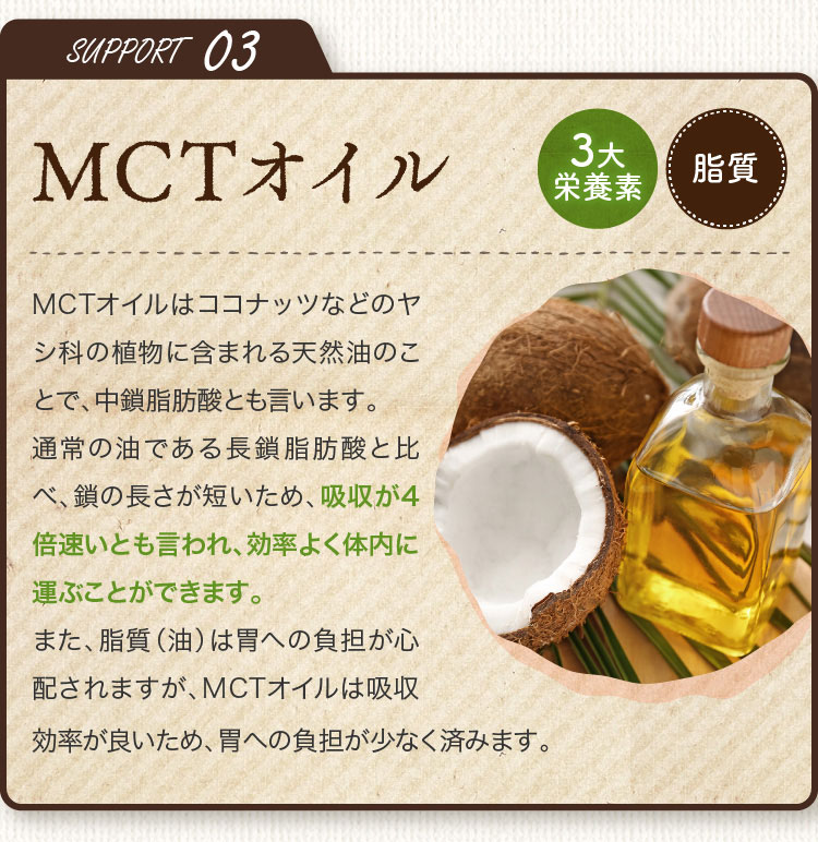 SUPPORT03 MCTオイル