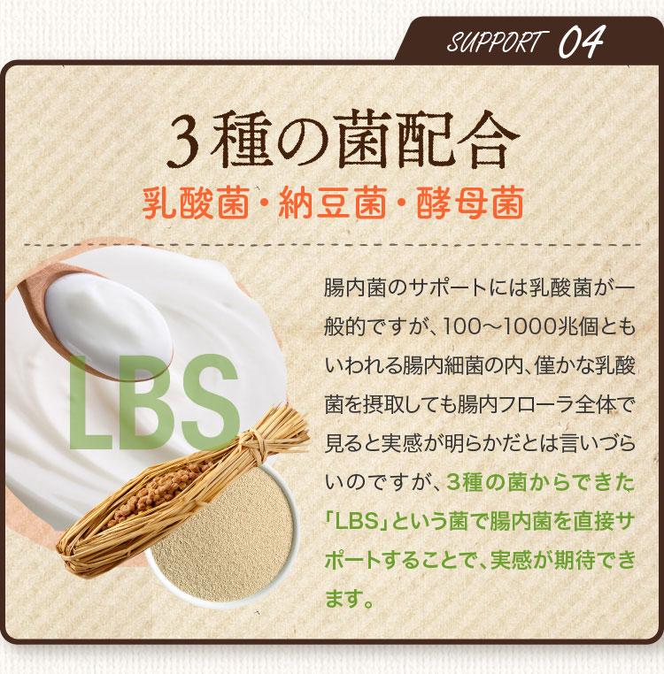 SUPPORT04 3種の菌配合